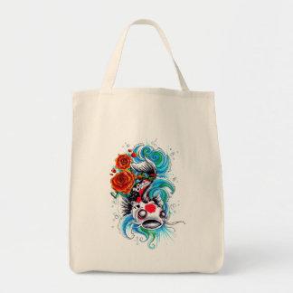 Cool Oriental Japanese Koi Fish Carp Rose tattoo Tote Bag