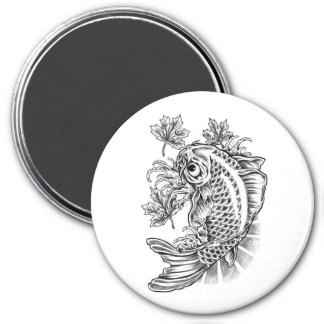 Cool Oriental Japanese Koi Fish Carp tattoo Magnet