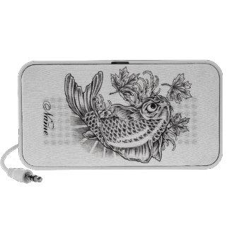 Cool Oriental Japanese Koi Fish Carp tattoo iPhone Speaker