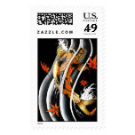 Cool Oriental Japanese Koi Lucky Carp Water Ink Stamps