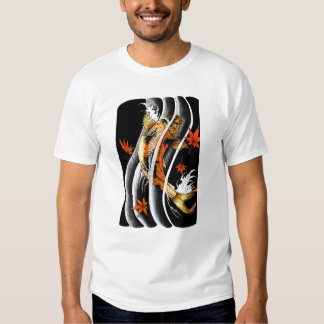 Cool Oriental Japanese Koi Lucky Carp Water Ink Tshirts