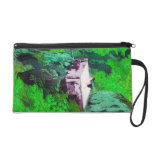 Cool oriental japanese Ladies in Hot Spring art Wristlet Clutches