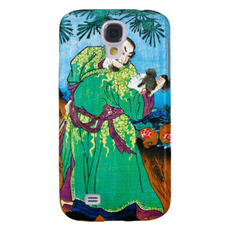 Cool oriental japanese Legendary Ancient Hero art Galaxy S4 Cover