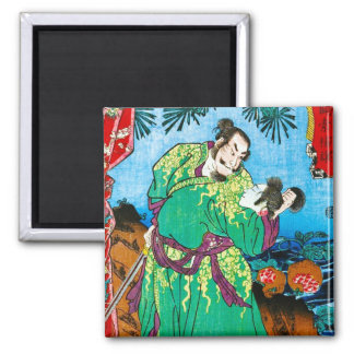Cool oriental japanese Legendary Ancient Hero art Magnet