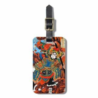 Cool oriental japanese legendary hero Samurai art Luggage Tags