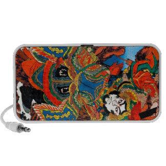 Cool oriental japanese legendary hero Samurai art Notebook Speakers