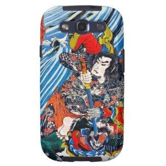Cool oriental japanese Legendary Hero Samurai Galaxy S3 Cases