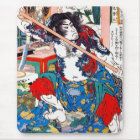 Cool oriental japanese Legendary Hero warrior art Mouse Pad