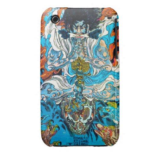 Cool oriental japanese Legendary Hero Warrior iPhone 3 Case-Mate Case