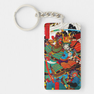 Cool oriental Japanese Legendary Samurai General Double-Sided Rectangular Acrylic Keychain