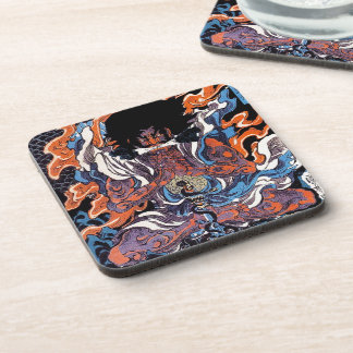 Cool oriental japanese Legendary Sanin warrior art Beverage Coaster