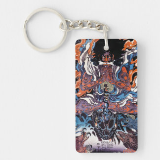 Cool oriental japanese Legendary Sanin warrior art Keychain