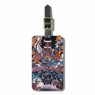 Cool oriental japanese Legendary Sanin warrior art Tag For Bags