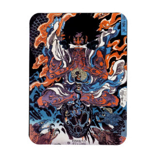 Cool oriental japanese Legendary Sanin warrior art Magnet