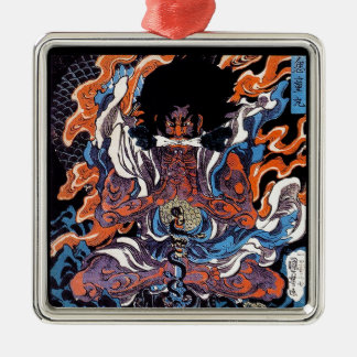 Cool oriental japanese Legendary Sanin warrior art Metal Ornament