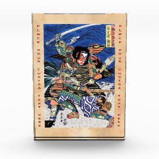 Cool oriental japanese legendary warrior samurai acrylic award