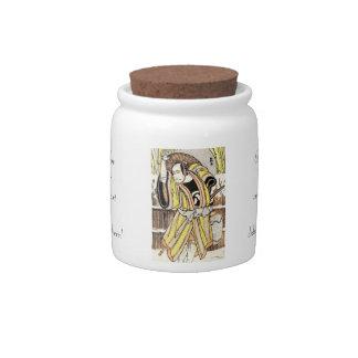 Cool oriental japanese legendary warrior samurai candy jars