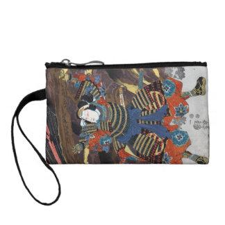 Cool oriental japanese legendary warrior samurai coin purse