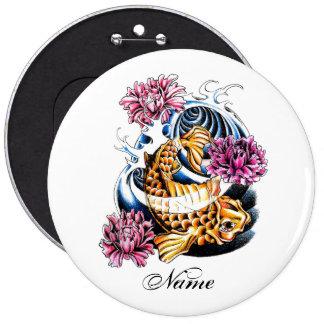 Cool Oriental Japanese Lucky Koi Carp tattoo Pins