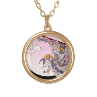 Cool oriental japanese Monkey God art Gold Plated Necklace