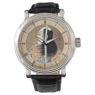 Cool oriental japanese Natsumatsuri Danschich art Wrist Watch