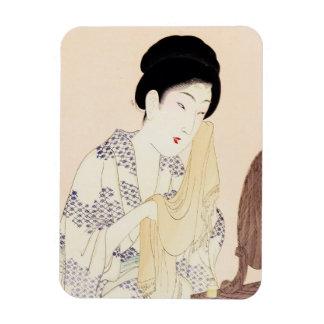 Cool oriental japanese old print geisha lady art magnet