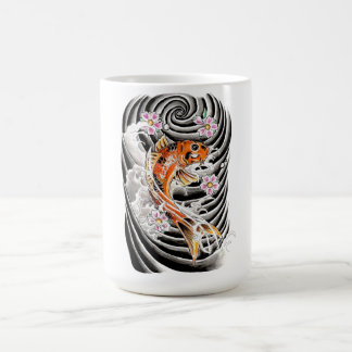 Cool Oriental Japanese Orange Carp Koi Fish Coffee Mug