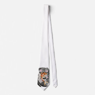 Cool Oriental Japanese Orange Carp Koi Fish Tie