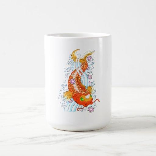 Cool Oriental Japanese Orange Comic Koi Fish Carp Mug
