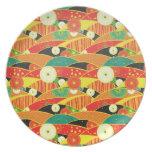 Cool oriental japanese pattern plate