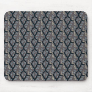 Cool oriental japanese peacock abstract pattern mouse pad