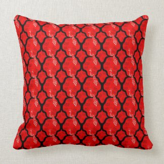 Cool oriental japanese peacock abstract pattern pillow