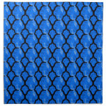 Cool oriental japanese peacock abstract pattern printed napkin