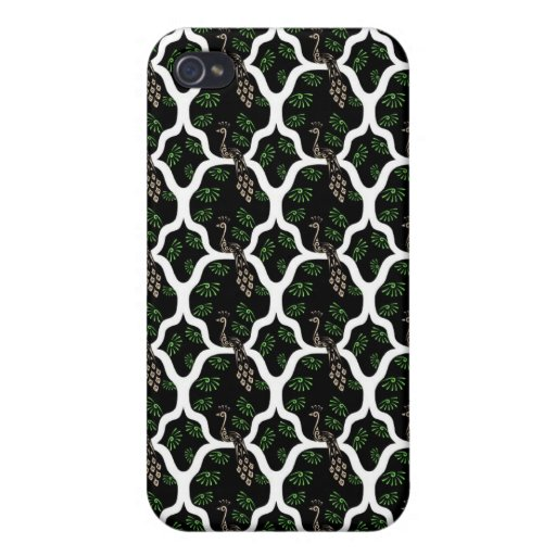 Cool oriental japanese peacock abstract pern iPhone 4/4S case