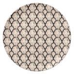 Cool oriental japanese peacook pattern dinner plates