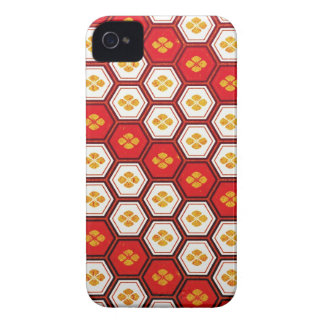 Cool oriental japanese pentagon vibrant patttern iPhone 4 Case-Mate cases