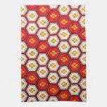 Cool oriental japanese pentagon vibrant patttern towels