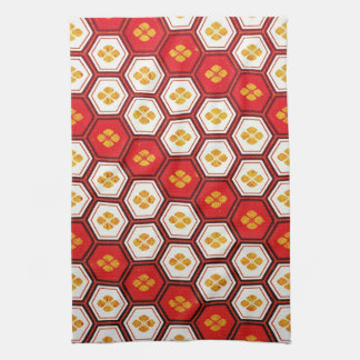 Cool oriental japanese pentagon vibrant patttern kitchen towel