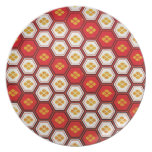 Cool oriental japanese pentagon vibrant patttern plates