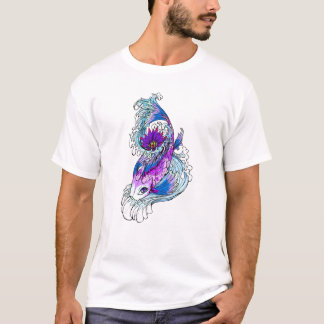 Cool Oriental Japanese Purple Koi Fish T-Shirt