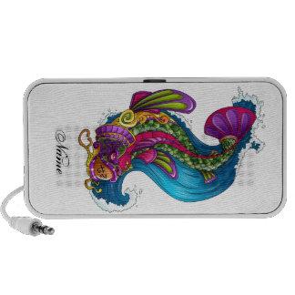 Cool Oriental Japanese Rainbow Koi Carp Fish Mp3 Speaker