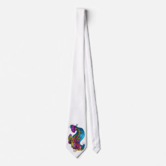 Cool Oriental Japanese Rainbow Koi Carp Fish Tie