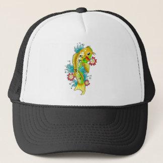 Cool oriental japanese rainbow koi carp fish trucker hat