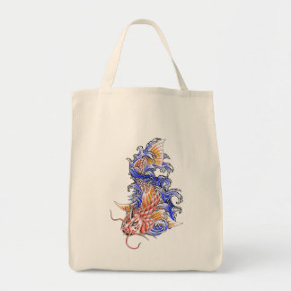 Cool Oriental Japanese Red Koi Carp Fish tattoo Tote Bag