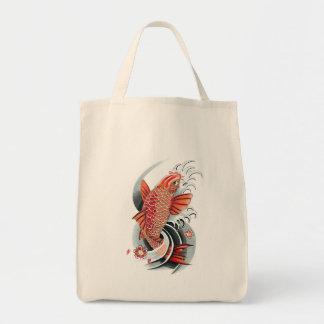 Cool Oriental Japanese Red Koi Carp Fish tattoo Bag