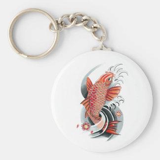 Cool Oriental Japanese Red Koi Carp Fish tattoo Key Chain