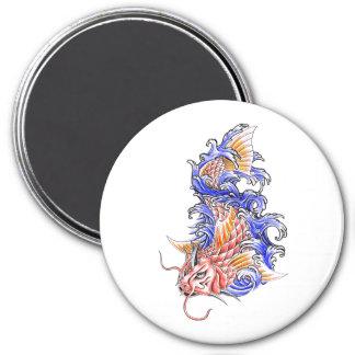 Cool Oriental Japanese Red Koi Carp Fish tattoo Refrigerator Magnets