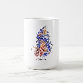Cool Oriental Japanese Red Koi Carp Fish tattoo Mug