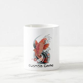 Cool Oriental Japanese Red Koi Carp Fish tattoo Coffee Mug