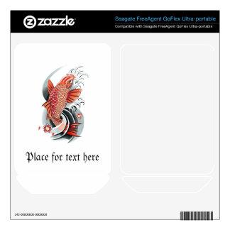 Cool Oriental Japanese Red Koi Carp Fish tattoo FreeAgent GoFlex Decals